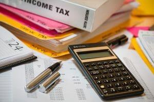 income tax, calculator, accounting